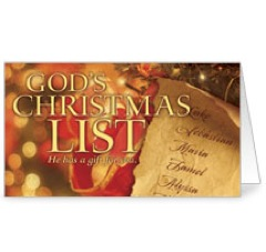 God's Christmas List InviteCard