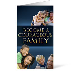 Courageous Family Blue Invitation