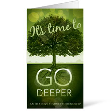 Go Deeper Time InviteCard