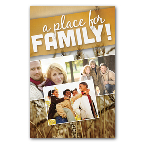 A Place for Family Fall InviteCards