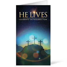 He Lives Crosses InviteCard