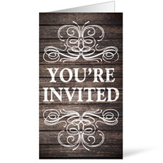 Rustic Charm Welcome InviteCard