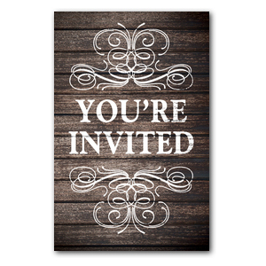 Rustic Charm Welcome InviteCards