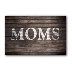 Rustic Charm Moms InviteCard
