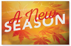 New Season Leaves Medium InviteCards