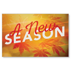 New Season Leaves InviteCard