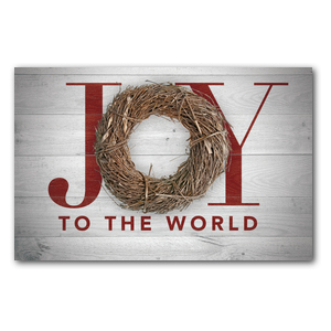 Joy Twig Wreath Medium InviteCards
