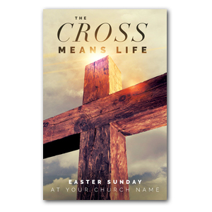 Cross Means Life InviteCards