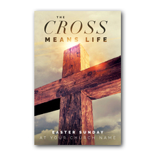Cross Means Life InviteCard
