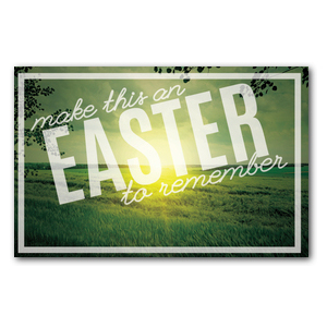 Easter to Remember Green Medium InviteCards