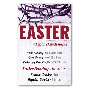 Easter Crown of Thorns InviteCards