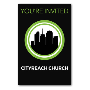CityReach Black InviteCards