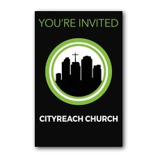 CityReach Black InviteCard