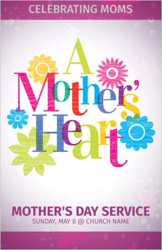 InviteCards, Mother's Day, A Mothers Heart, 4.25 x 2.75