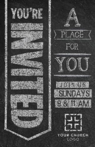 Chalkboard Art Welcome Invitecard Church Invitations