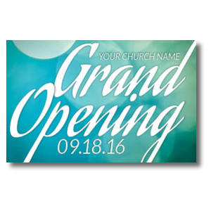 Grand Opening Blue Lights InviteCards