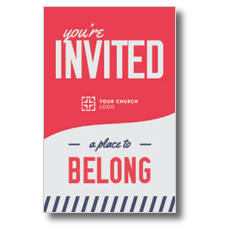 To Belong Red InviteCard