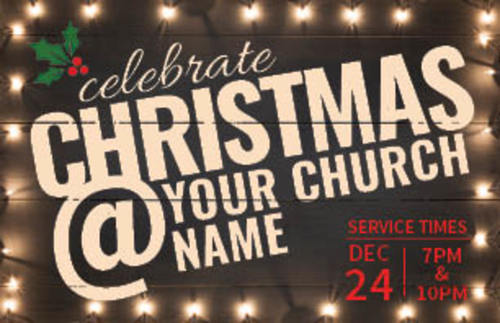 christmas at lights invitecard church invitations outreach marketing
