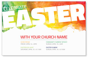 Celebrate Easter Events InviteCards