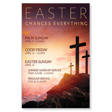 Easter Crosses Hilltop InviteCard