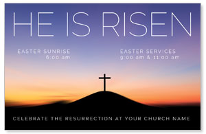 He Is Risen Sunrise InviteCards