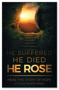 Suffered Died Rose InviteCards