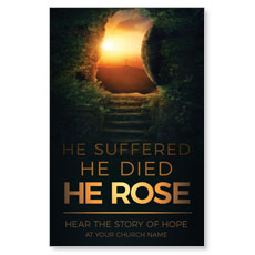 Suffered Died Rose InviteCard