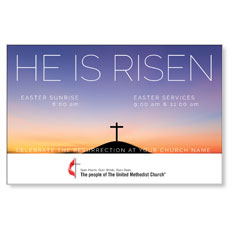 UMC He Is Risen Sunrise InviteCard