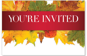 Leaves Youre Invited Medium InviteCards
