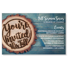 Wood Cut Fall Invited