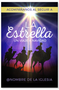 The Star A Journey to Christmas Spanish InviteCards