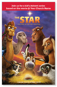 The Star Movie Advent Series for Kids Medium InviteCards