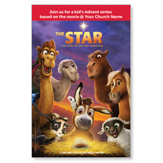 The Star Movie Advent Series for Kids InviteCard