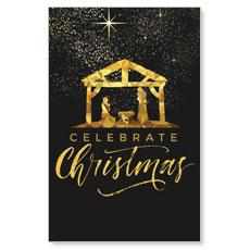 Black and Gold Nativity InviteCard