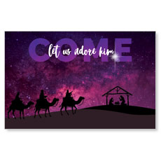 Come Let Us Adore InviteCard
