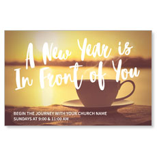 New Year Coffee Cup InviteCard