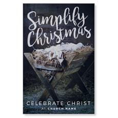 Simplify Christmas Manger InviteCard