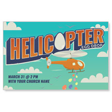 Helicopter Egg Drop InviteCard