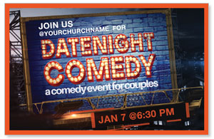 Date Night Comedy Medium InviteCards