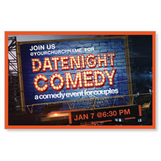 Date Night Comedy InviteCard