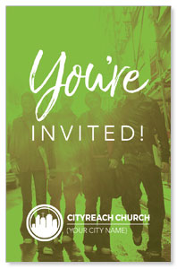 CityReach Urban Green Invited InviteCards
