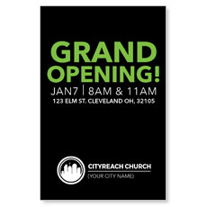 CityReach Black and Green InviteCard