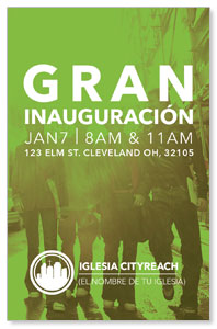 CityReach Urban Green Spanish InviteCards