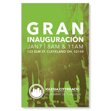 CityReach Urban Green Spanish InviteCard