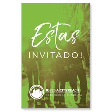 CityReach Urban Green Invited Spanish InviteCard