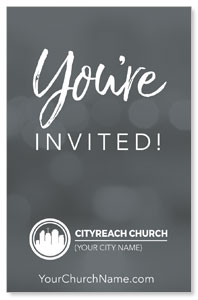 CityReach Blurred Gray Invited InviteCards