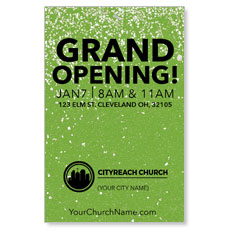 CityReach Green Pebble Fade InviteCard