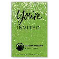 CityReach Green Pebble Fade Invited InviteCard