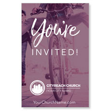 CityReach Plum Invited InviteCard