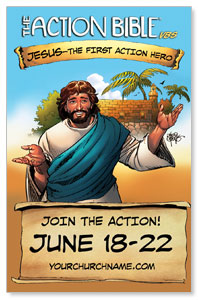 The Action Bible VBS InviteCards